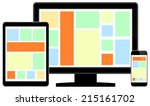 modern lcd monitor with smart... | Shutterstock .eps vector #215161702