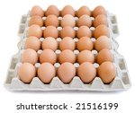 close up of egg in egg box on... | Shutterstock . vector #21516199