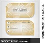 business card template ... | Shutterstock .eps vector #215166016