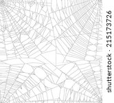 illustration with spider web... | Shutterstock .eps vector #215173726