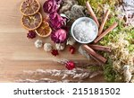 sea salt with dry fruits ... | Shutterstock . vector #215181502