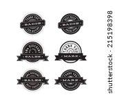 vintage badges set | Shutterstock .eps vector #215198398