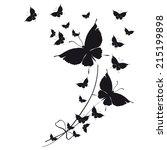 Stock vector butterflies design 215199898