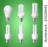 Set Of Energy Saving Light Bulbs