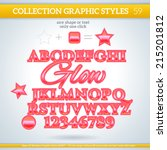glow graphic styles for design. ... | Shutterstock .eps vector #215201812