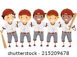 illustration featuring a team... | Shutterstock .eps vector #215209678