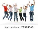 portrait of teenage girls and... | Shutterstock . vector #21523360