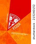 pizza background | Shutterstock .eps vector #215240152