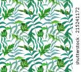 seamless tropical flower  plant ... | Shutterstock . vector #215241172