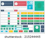 flat ui kit design elements for ...