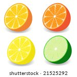 vector illustration of a set of ...   Shutterstock .eps vector #21525292