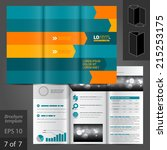 vector dynamic brochure... | Shutterstock .eps vector #215253175