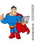 superhero mascot character | Shutterstock .eps vector #215253325