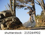 south africa  male mountain... | Shutterstock . vector #215264902