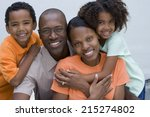 two generation family smiling ... | Shutterstock . vector #215274802