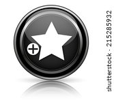 black shiny icon on white... | Shutterstock . vector #215285932