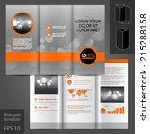 gray classic vector brochure... | Shutterstock .eps vector #215288158