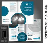 white vector brochure template...   Shutterstock .eps vector #215288182