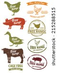 Free Range Meat Stamp  Vector