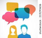 men and women avatar picture...   Shutterstock .eps vector #215293636