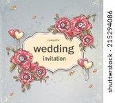 image festive wedding... | Shutterstock .eps vector #215294086