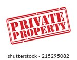 Private Property Red Rubber...
