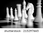 chess pieces  with focus on... | Shutterstock . vector #215297665