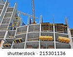 crane and building construction ...   Shutterstock . vector #215301136