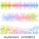 light mosaic banners | Shutterstock .eps vector #215308012