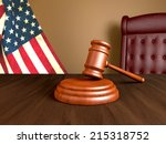 wooden gavel | Shutterstock . vector #215318752