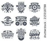 emblems retro vintage race and... | Shutterstock .eps vector #215318788