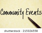 community events text write on... | Shutterstock . vector #215326558