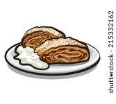 apple strudel | Shutterstock .eps vector #215332162