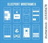 blueprint wireframe mobile app...