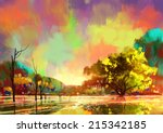 Digital Painting Of A Beautiful ...