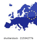 map of european union | Shutterstock .eps vector #215342776