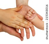 four hands of the family  a... | Shutterstock . vector #215343016