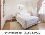 Stock photo interior of a small hotel room 215352922