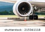 Stock photo boeing jet engine 215361118