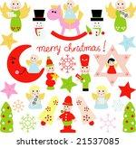 vector set of christmas 27   Shutterstock .eps vector #21537085