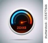 speedometer . vector... | Shutterstock .eps vector #215377666