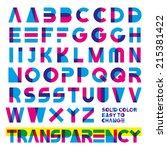 typeset in primary colors... | Shutterstock .eps vector #215381422