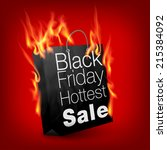 fiery black friday sale design... | Shutterstock .eps vector #215384092