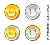 coins with lucky horseshoe for...