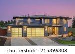 beautiful exterior of new... | Shutterstock . vector #215396308