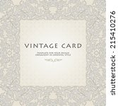 vintage  frame in floral style.... | Shutterstock .eps vector #215410276