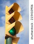 Yellow Traffic Light Shows...