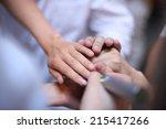 health care workers... | Shutterstock . vector #215417266