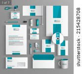 white stationery template... | Shutterstock .eps vector #215428708