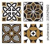 vintage ornamental patterns   Shutterstock .eps vector #215429602